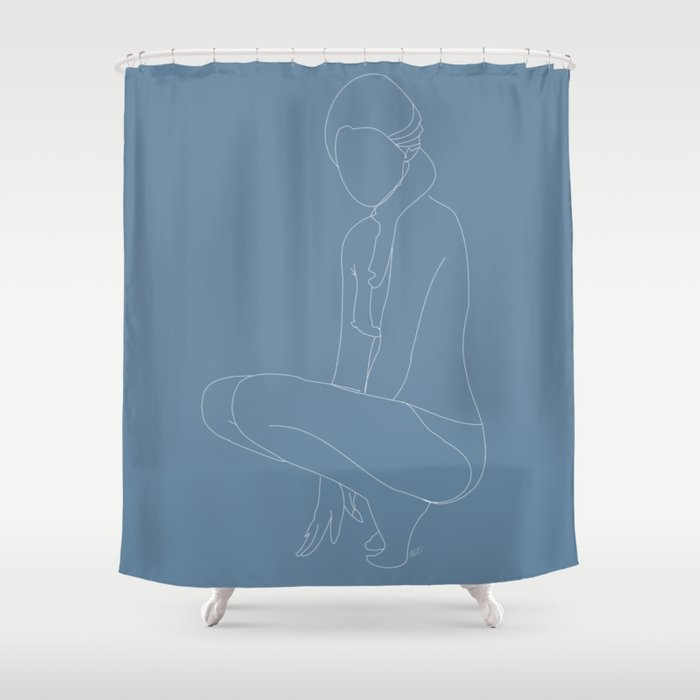 Minimal Feminine Figure N 3 Shower Curtain By Layla Oz Society6