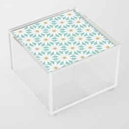 Daisy Hex - Turquoise Acrylic Box