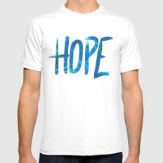 Hope White MEDIUM Mens Fitted Tee