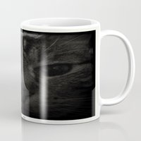 sofa Mugs featuring Sofa Loaf Face BW by Nearlycanadian
