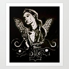 Black (Wings/Angel) Art Print