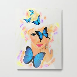 Fluttery 1 Metal Print