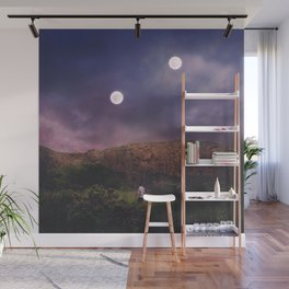 Binary Moons Wall Mural