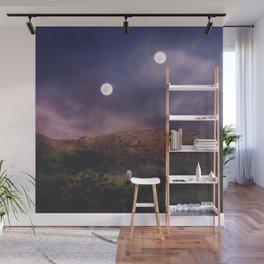 Binary Moons Wall Mural