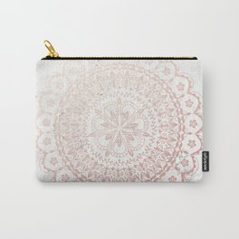 Rose gold mandala and grey marble Carry-All Pouch