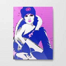 Femme Fatale Circa 1930 Too Beautiful To Be Dangerous Metal Print