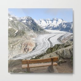 Aletsch Glacier in Switzerland Metal Print