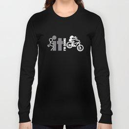 It I'm Going Mountain Biking Mens Mtb Downhill Singletrack Gift Bicycle T-Shirts Long Sleeve T-shirt