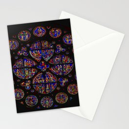 Stained Glass Rose Window 1 Stationery Cards