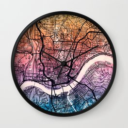 Cincinnati Ohio City Map Wall Clock