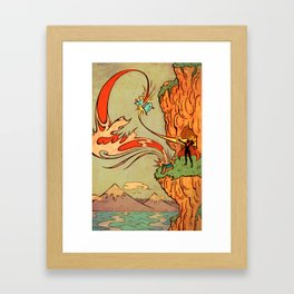 Little Red and the Demon Wolf Framed Art Print