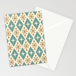 Mid Century Modern Atomic Triangle Pattern 102 Stationery Cards
