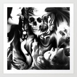 Sin and smoke Art Print
