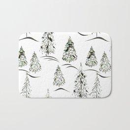 Winter forest. Bath Mat