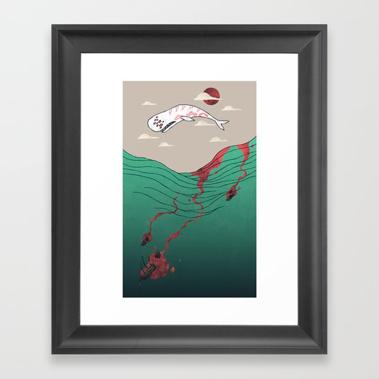 White Whale Framed Art Print