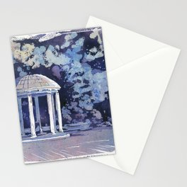 Old Well fine art watercolor painting- Chapel Hill, NC. Stationery Cards