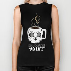 No Coffee No Life Biker Tank