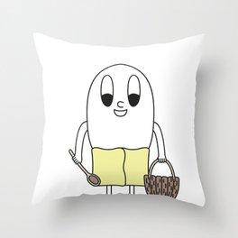 Sauna-Goer Egg Throw Pillow