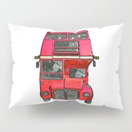The big red bus. (Painting) Pillow Sham