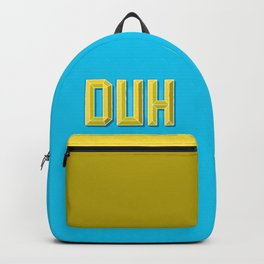"""""""DUH"""" 3D Letters (Light Blue, Yellow) Backpack"""
