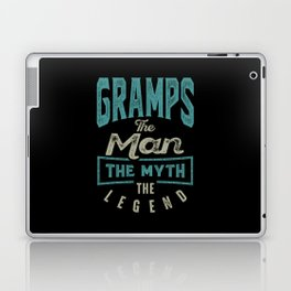 Gramps The Myth The Legend Laptop & iPad Skin