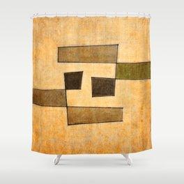 Protoglifo 03 'brown dance' Shower Curtain