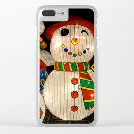 snowmen lanterns Clear iPhone Case