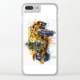 Oldtimer Automobile Watercolor Painting Clear iPhone Case