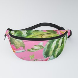 Watermelon Pattern with Pink Background Fanny Pack
