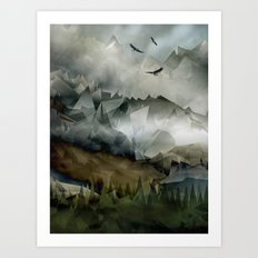 Eagle Mountains Art Print