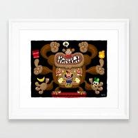 donkey kong Framed Art Prints featuring Mario vs Donkey Kong by Jorge R. Gutierrez