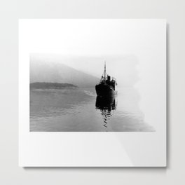 Fjord ship Metal Print