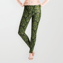 Green and Blue Paisley Leggings