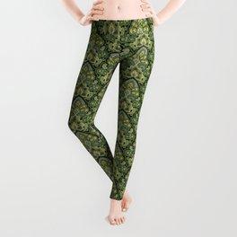 Green and Blue Paisley Leggings