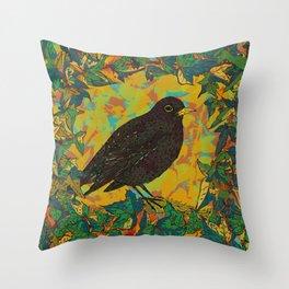 Blackbird and Ivy Throw Pillow