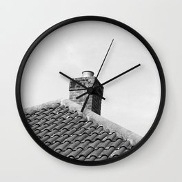 Roof with Film Wall Clock
