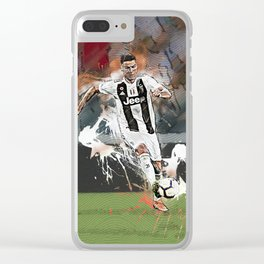 Cristiano Abstract Art Clear iPhone Case