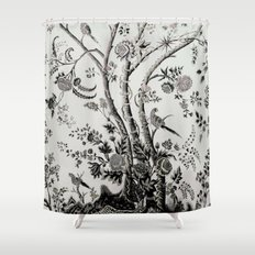 Peacock Tree Natural Shower Curtain