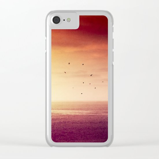 Red SunRise over the ATLANTIC Clear iPhone Case