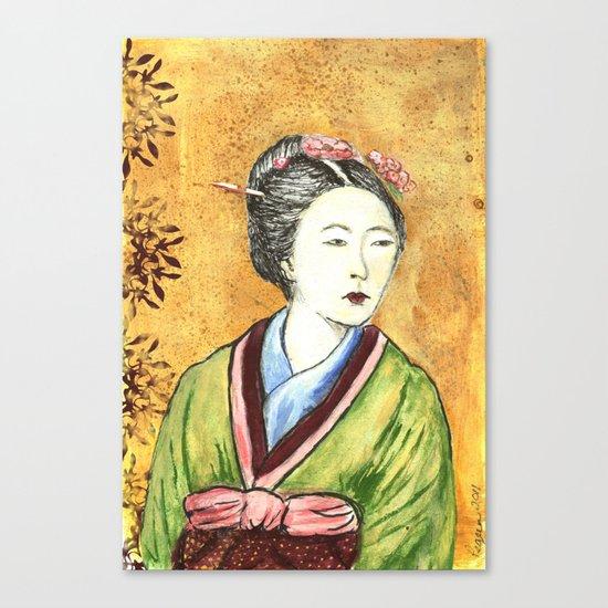 Japanese Woman Canvas Print
