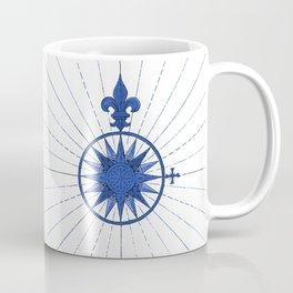 Nautical French Blue Compass Rose Coffee Mug