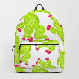 Summer hand painted pink green watercolor cactus Backpack