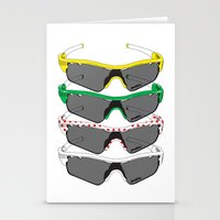 tour de france Stationery Cards featuring Tour de France Glasses by Pedlin