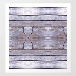 Cracked Wood Photo Art Print
