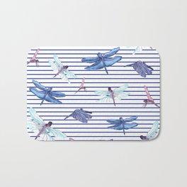 Dragonfly stripes Bath Mat