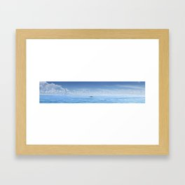 Fishing boat in front of Sunshine Skyway Framed Art Print
