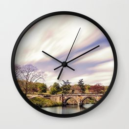 Paine`s Bridge, Chatsworth, Derbyshire, UK. Wall Clock