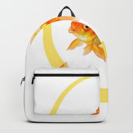 3 GOLDFISH SWIMMING PATTERN MODERN ART Backpack