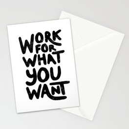 Words to live by Stationery Cards