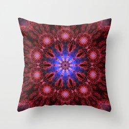 Cosmic Aura Mandala Throw Pillow